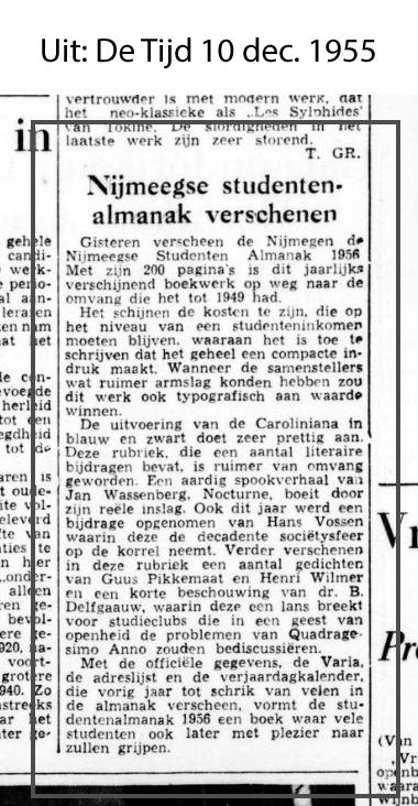 1955-12-10 recensie Nijmeegse Studenten Almanak